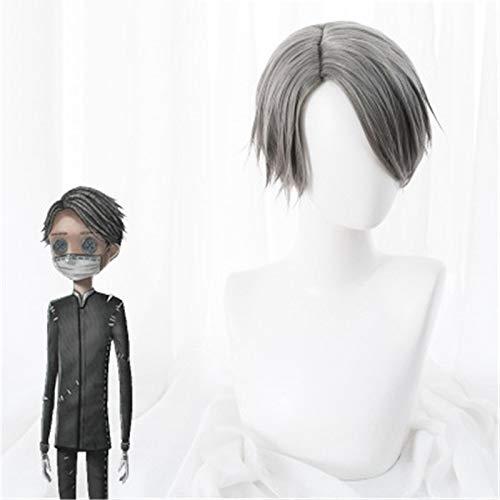 Juego Identity V Cosplay peluca embalsamador Aesop Carl pelucas pelo sinttico resistente al calor disfraz de fiesta de Halloween peluca + gorro de peluca
