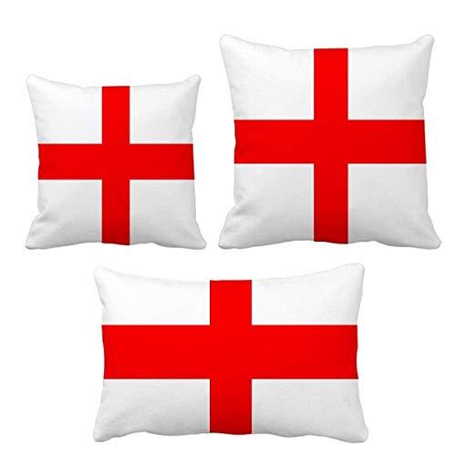 DIYthinker - Juego de fundas de cojín, diseño de bandera nacional de Inglaterra