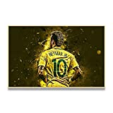 Avdgfr HD Art on Canvas Nature-[World Football Star Poster Athlete Portrait] Canvas Prints Personalised Photo-Art Print Images Realised as Wall Picture on Real 40X60cm Frameless