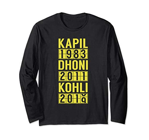 2019 Team India Cricket Fan Jersey Langarmshirt