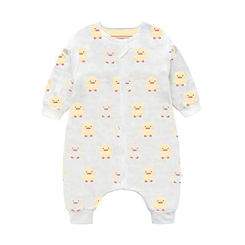 Katoenen mouwloze babyslaapzak, babyslaapzak, kindveilige quilt-gele duckling_110 yards, slaapzak baby-wikkeldeken