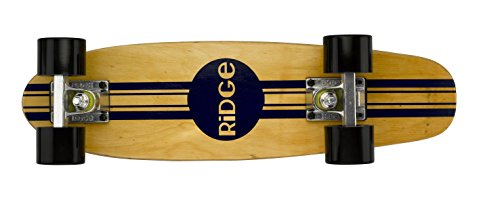 Ridge Retro Skateboard Mini Cruiser, schwarz, 22 Zoll, WPB-22