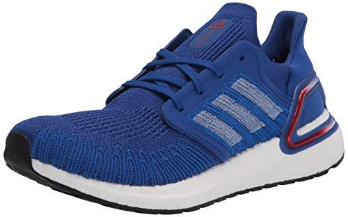 adidas Men's Ultraboost 20 Sneaker, Team Royal Blue/White/Scarlet, 7 UK