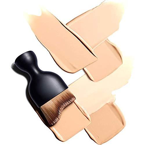 Pinceau à fond de teint professionnel Kabuki en forme de vague pour application de fond de teint liquide Pinceaux pour crème Pinceau à plis inclus