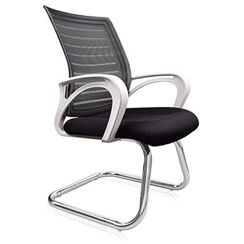 Sedia da Ufficio Ergonomica Regolabile sedia di operazione, sedia della maglia dell'ufficio, Negoziazione, sedia conferenza, senza braccia girevole bianca scrivania Sedia da ufficio sedia rotelle