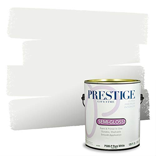 Prestige Paints Interior Paint and Primer In One, 1-Gallon, Semi-Gloss, Comparable Match of Sherwin Williams* Extra White*