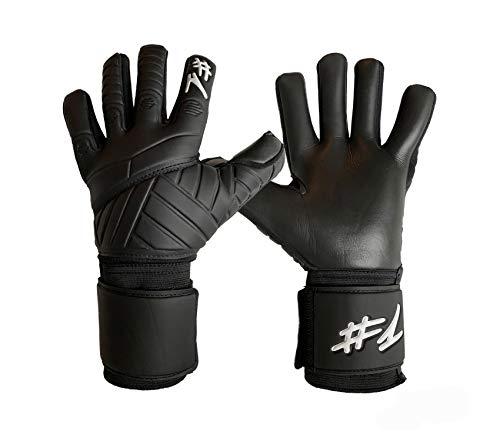 #1 Hashtagone Torwarthandschuhe, Hyper schwarz 8- Diverse Größe und Farben (schwarz, 8)