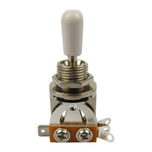 Musiclily Métrica Interruptor Selector de Palanca de 3 Posiciones para Guitarras de Estilo Les Paul, Botón Blanco