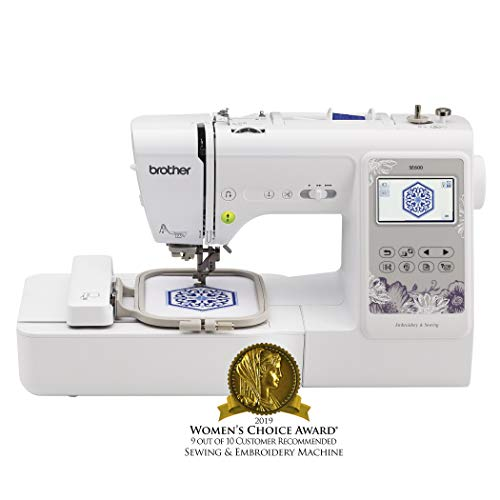 Brother, SE600, Computerized Machine with 4' x 4' Area, 80 Embroidery Designs, 103 Built-In Sewing Stitches, White