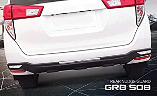 Goldsun elegant durable|high impact ABS easy step-in Rear nudge guard |Rear Bumper Protector with eye catchy end sill plates|for Toyota Innova Crysta|2016 - present|all variants |GRB 508 -Matte Black|