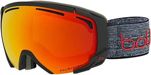 bollé Supreme OTG Skibrille, Farbe:Matte Dark Grey & red/Phantom fire red