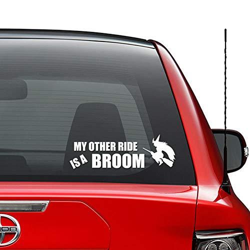 Mijn andere rit is een bezem vinyl sticker auto vrachtwagen voertuig bumper raam muur Decor helm motorfiets en meer - (grootte 9 inch / 23 cm breed) / (kleur glans zwart)