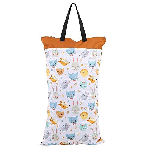 Wet bag grande per pannolini lavabili, con 2 cerniere impermeabili, riutilizzabile