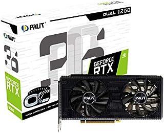 Palit GeForce RTX 3060 Dual OC 12GB GDDR6 Tarjeta gráfica, 3584 núcleo, 1320 MHz GPU, 1837 MHz Boost, Ampere Architechture...