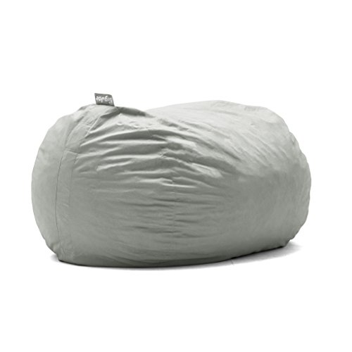 Big Joe Lenox Fuf Foam Filled Bean Bag, Extra Large, Fog