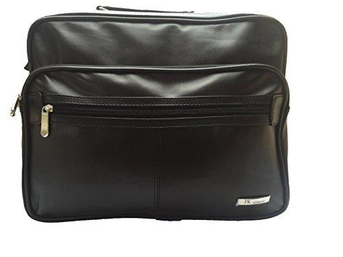 XL Arbeitstasche Schultertasche Reisetasche schwarz Leder Optik Querformat neu (schwarz)