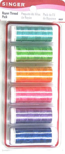 SINGER Rayon Craft Thread, Assorted Colors, 6 Spools