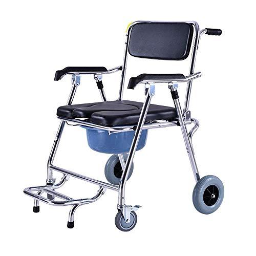 Z-SEAT Commode Chair Mobiler Toilettenrollstuhl Professionelle Pflege Gepolsterter Sitz und Eimer Tragfähigkeit bis zu 150 kg
