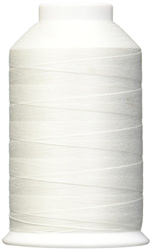 YLI 24430WHT 3-Ply 40wt T-40 Machine Cotton Quilting Thread, 3000 yd, White