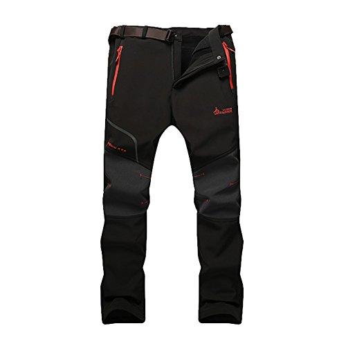 GITVIENAR Pantalon d'alpinisme Hommes Mince Séchage Rapide Respirant Pantalon de Sport Slim Élastique pour Camping Activités Extérieurs Épaississement de la Chaleur