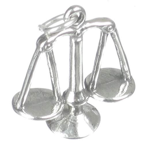 Báscula de justicia de plata de ley 925 para pulsera. Báscula de cocina 1 x colgantes SSLP2700