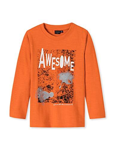 Schiesser Jungen Rebel Rules 1/1 T-Shirt, Gelb (Orange 602), (Herstellergröße: 110)