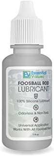 Foosball Rod Lubricant - Authentic Silicon Lube for Foosball Table Rods by Essential Values