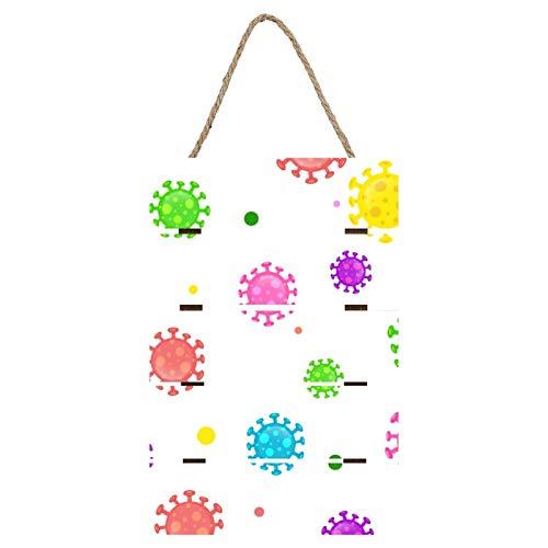 QUEMIN Microbiología de Dibujos Animados Coloridos Marco magnético para Colgar Carteles de 11 Pulgadas de Ancho - 11,8 x 7,9 - Marco de Madera para Carteles, Ilustraciones - Colgar en la Pared