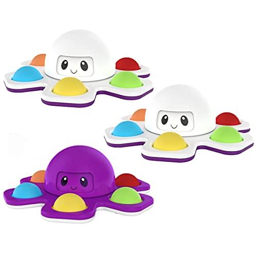 SHIBAOZI Fidget Spinner, brinquedo anti-ansiedade, alívio de estresse para crianças, adultos (cor aleatória, pacote com 3)