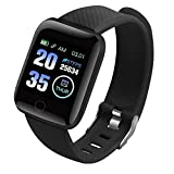Besay 116 PLUS Color Screen Smart Watch Heart Rate Blood Pressure Waterproof Fitness Tracking Watch