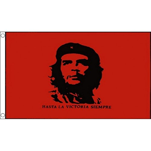 HUGE!!! 8ft x 5ft (240 x 150 cm) Che Guevara Cuban Revolutionary 100% Polyester Material Flag Banner Ideal For Pub Club School Festival Business Party Decoration by UKFlagShop