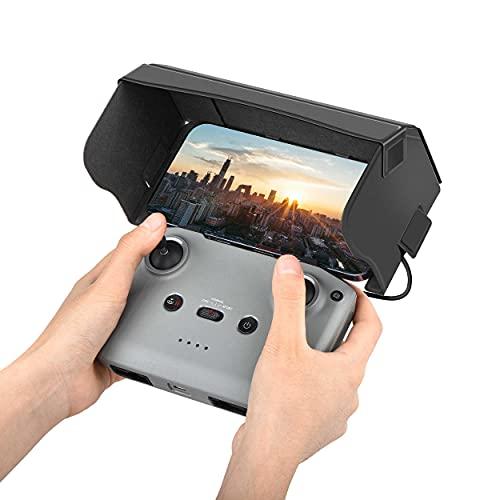 Tomat Mavic Air 2S Sun Hood Sunshade Telecomandato Telefono Cappuccio Parasole Pieghevole per DJI Air 2S/Mavic Air 2/Mini 2 Telecomando Accessori (Compatibile con Schermo Smartphone 4.4-7.1inch)