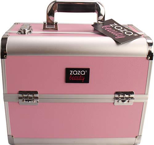 ZAZA Large Professional PINK Aluminium Beauty Make Up Nail Cosmetic Box Vanity Case (BC01 PINK)