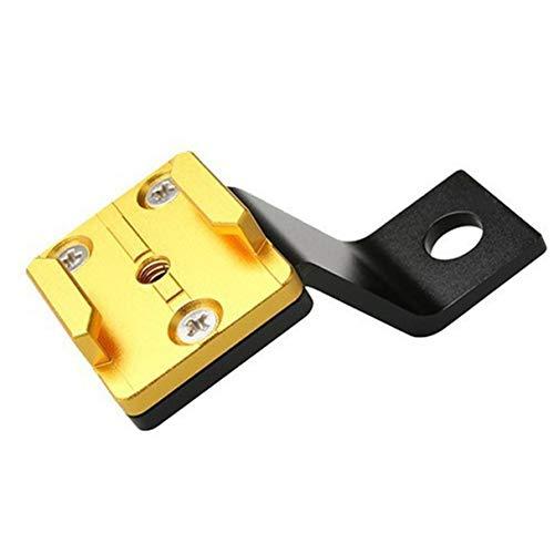 Morninganswer Soporte de retrovisor Giratorio Soporte de Montaje de Espejo Soporte de extensión Adaptador de Base Accesorios Soporte de Abrazadera Función múltiple Dorado