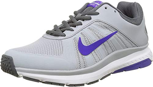 Nike Wmns Dart 12 Laufschuhe, Scarpe Running Donna, Grigio (Wolf Grau/Fierce Purple), 38.5 EU