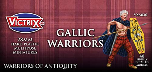 Unbekannt Victrix VXA030 - Ancient Gallic Warriors - 48 Figuren Set - 28mm Plastikminiaturen - Krieger der Antike