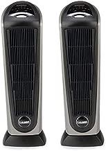 Lasko 1500 Watt 2 Speed Ceramic Oscillating Tower Heater with Remote (2 Pack)