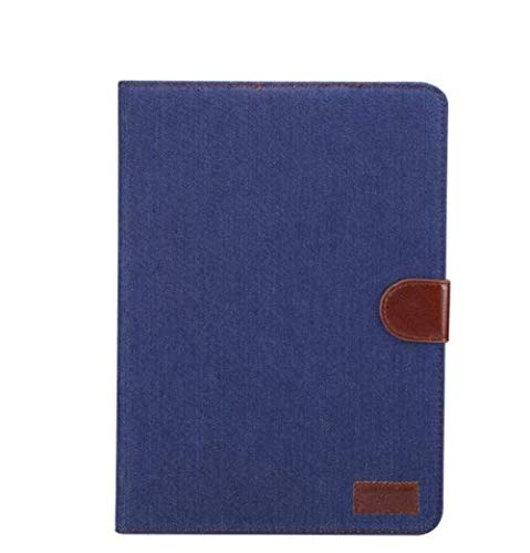 Smart Case Magnet PU Leather Flip Wallet Shell for Galaxy Tab A A6 10.1 2016 T580 T585 Tablet Stand Cover + Pen-Blue