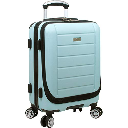 Dejuno Compact Hardside 20-inch Carry-on Luggage With Laptop Pocket, Sky Blue