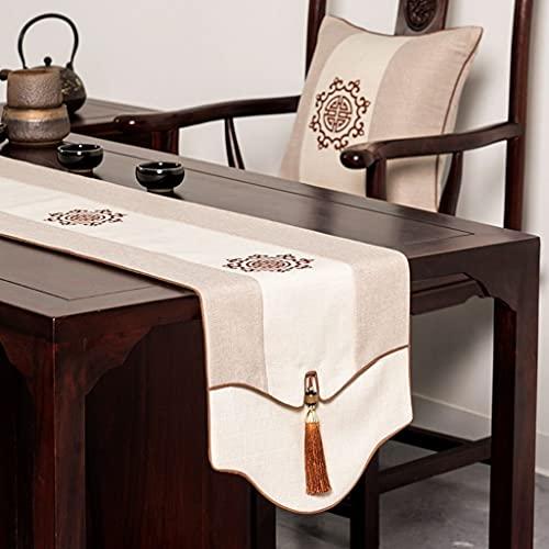XINXIN Chino Camino de Mesa Rojo Mesa de té Manteles Boda Festivo Boda Bandera de Cama Mesa de té Mesa de té Zen Sencillo Mesa de té (Color : B, Size : 33 * 80cm)