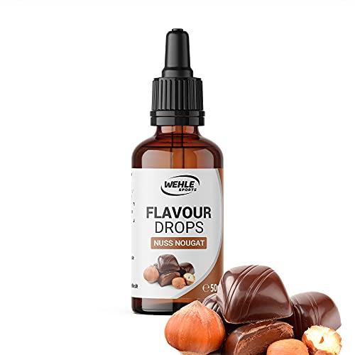 Flavour Drops zuckerfrei 50ml - Flavdrops Geschmackstropfen ohne Kalorien - Flavor Drops als Tropfen für Quark, Porridge, uvm - Aromatropfen zum Süßen ohne Zucker von Wehle Sports (Nuss Nougat)