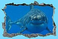 ウォールステッカーグレートホワイトシャーク3Dステッカーデカールシーライフデコレーショントロピカルフィッシュ壁画