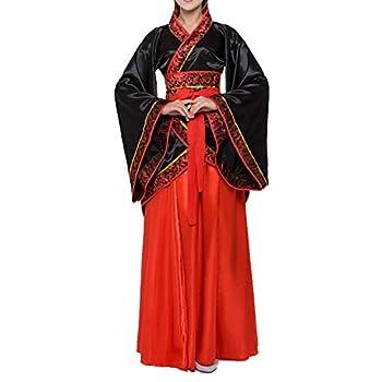 Women s Traditional Chinese Ancient Costume Floral Print Han Dynasty Fairy Asian Princess Hanfu Dress  040-B0# Black M