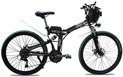 Bicicleta, Bicicletas de montaña plegable eléctrica de 26 pulgadas Neumáticos de 26 pulgadas Montaña Bicicleta eléctrica 21 Speed Shift 48V10Ah Adulto Plegable Power Energy Scooter para la ciudad De