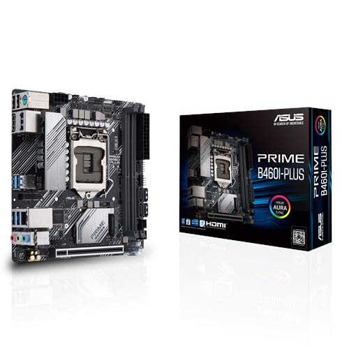 ASUS Prime B460I-PLUS - Intel® B460 (LGA 1200) Mini-ITX Motherboard mit Aura Sync RGB Header, M.2, DDR4 2933MHz, HDMI, DisplayPort, USB 3.2 Gen 1 Ports, Intel Optane Memory Ready, SATA 6 Gbps