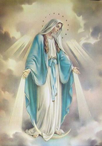 zhanglinzi Puzzle 1000 Piezas Virgen María, Jesús -AAA5A Madera Rompecabezas para Adultos (75 * 50 Cm)
