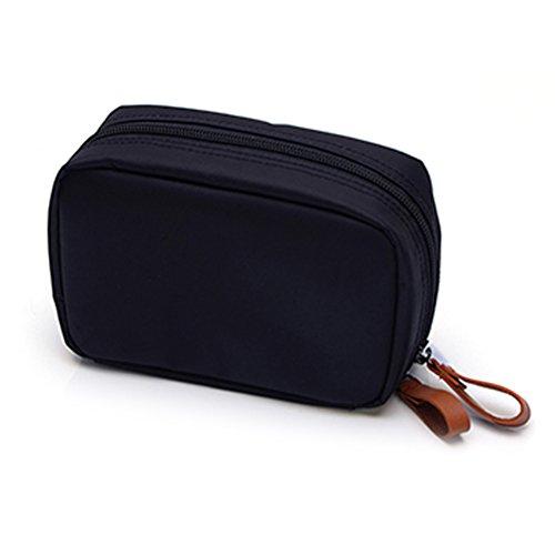 WINOMO Sac à Cosmétiques femmes sac solide maquillage toilette sac pochette Organizer (noir)