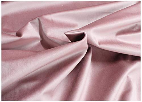 Tessuto Velluto a Metraggio Tappezzeria Rivestimenti Rosa Antico Cipria 50x280cm