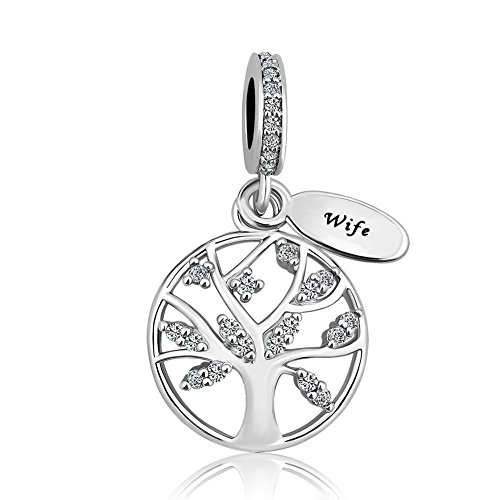 Lifequeen Heart Love Family Tree of Life Charm Mom Wife Grandma Forever Celtic Knot Charms Bracelets (Family Tree-3)