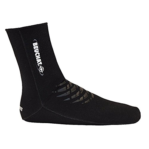 Beuchat–ELASKIN Socks 4mm, colore: nero, taglia EU 44–47